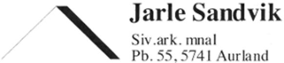 Sandvik Jarle Sivilarkitekt logo