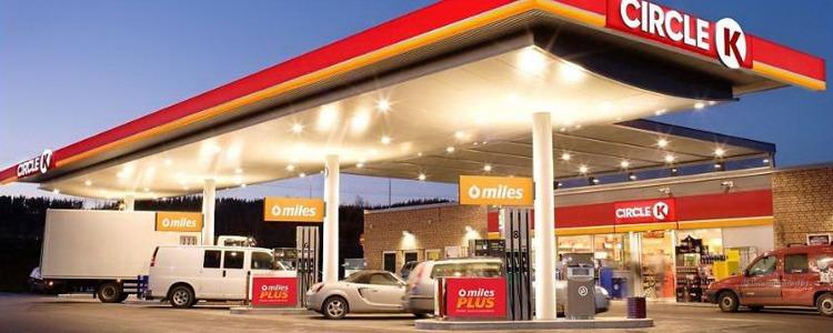 närmsta bensinmack