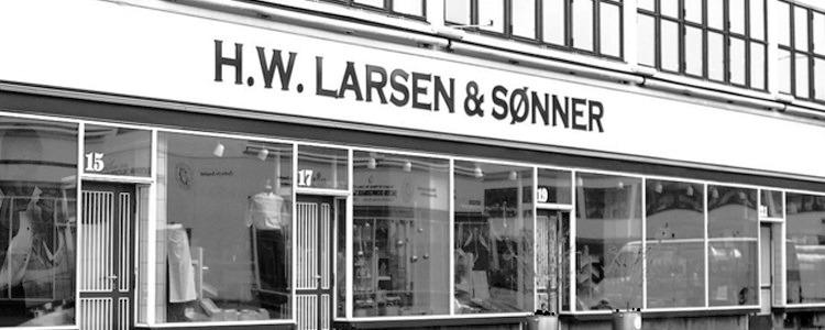Arbejdssko, sort H.W.Larsen AS