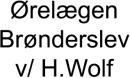 Ørelægen Brønderslev v/ H.Wolf logo