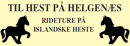 Til hest på Helgenæs logo