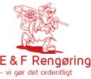 E & F Rengøring logo