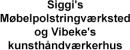 Siggi's Møbelpolstringværksted og Vibeke's kunsthåndværkerhus logo