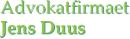 Advokatfirmaet Jens Duus logo