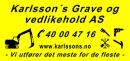 Karlssons Grave og Vedlikehold AS logo