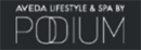 Podium Aveda lifestyle & spa logo