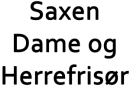 Saxen Dame og Herrefrisør logo