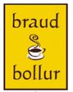 Braud og Bollur Amfi Roseby logo