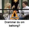 Drømmer du om balkong