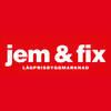 jem & fix Nybro logo