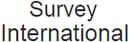 Survey International logo