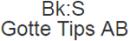 Bk:S Gotte Tips AB logo