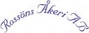 Rossöns Åkeri AB logo