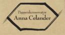 Papperskonservator Anna Celander logo