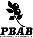 PBAB Redovisning och Revision AB logo
