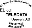 EL och TELEDATA Uppsala AB logo