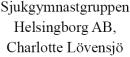 Sjukgymnastgruppen Helsingborg AB, Charlotte Lövensjö logo