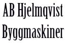 Hjelmqvist Byggmaskiner AB logo