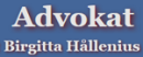 Advokat Birgitta Hållenius logo