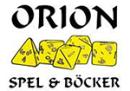 Orion spel och böcker logo