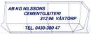 Nilssons Cementgjuteri, AB K G logo