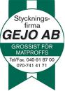 Gejo AB, Restaurang o Storhushåll logo