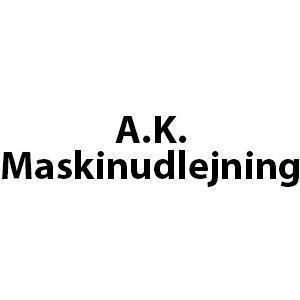 AK Maskinudlejning logo