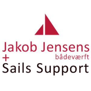 Jakob Jensens Bådeværft og Sails Support logo