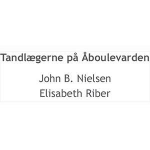 Tandlægerne John B. Nielsen og Elisabeth Riber logo