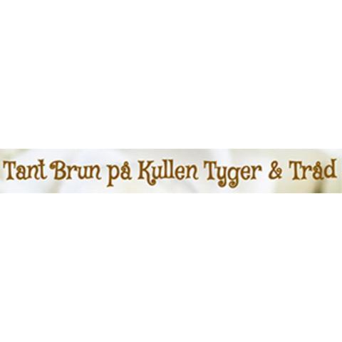 Tant Brun på Kullen tyger och tråd logo