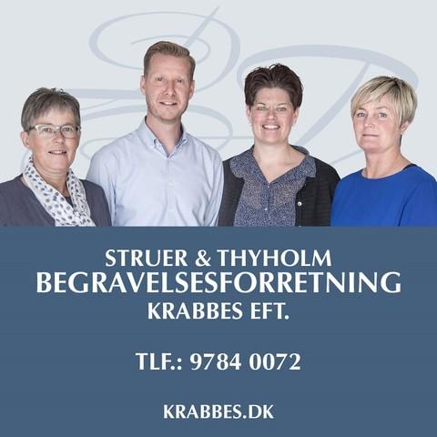 Struer & Thyholm Begravelsesforretning - Krabbes eftf. logo