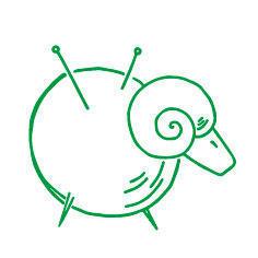 Strikkegarnet logo