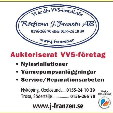 Rörfirma J. Franzén AB logo