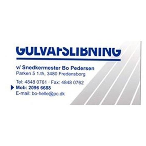 Gulvafslibning v/ Snedkermester Bo Hedegaard Pedersen logo