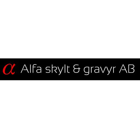 Alfa Skylt & Gravyr AB logo