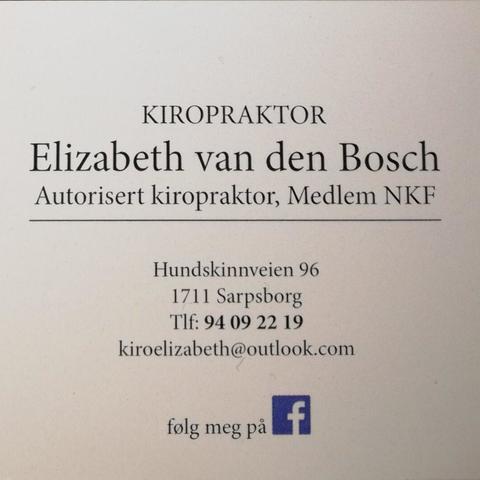 Kiropraktor Elizabeth Van Den Bosch logo