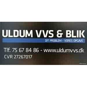 Uldum VVS & BLIK logo