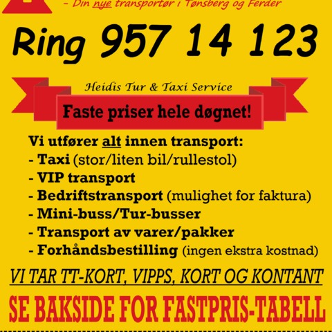 Heidis Tur & Taxi Service AS Ferder Taxi As logo