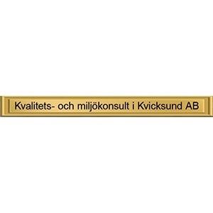 Kvalitets och miljökonsult i Kvicksund AB logo