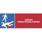 Norsk Førstehjelpsråd c/o NAKOS Nasjonal kompetansetjeneste for prehospital akuttmedisin logo